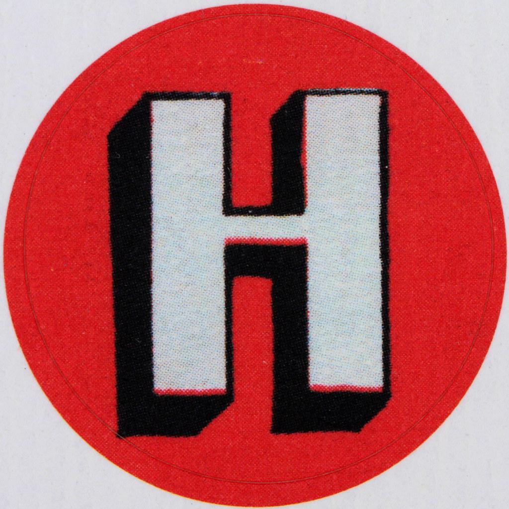 vintage sticker letter h leo reynolds flickr