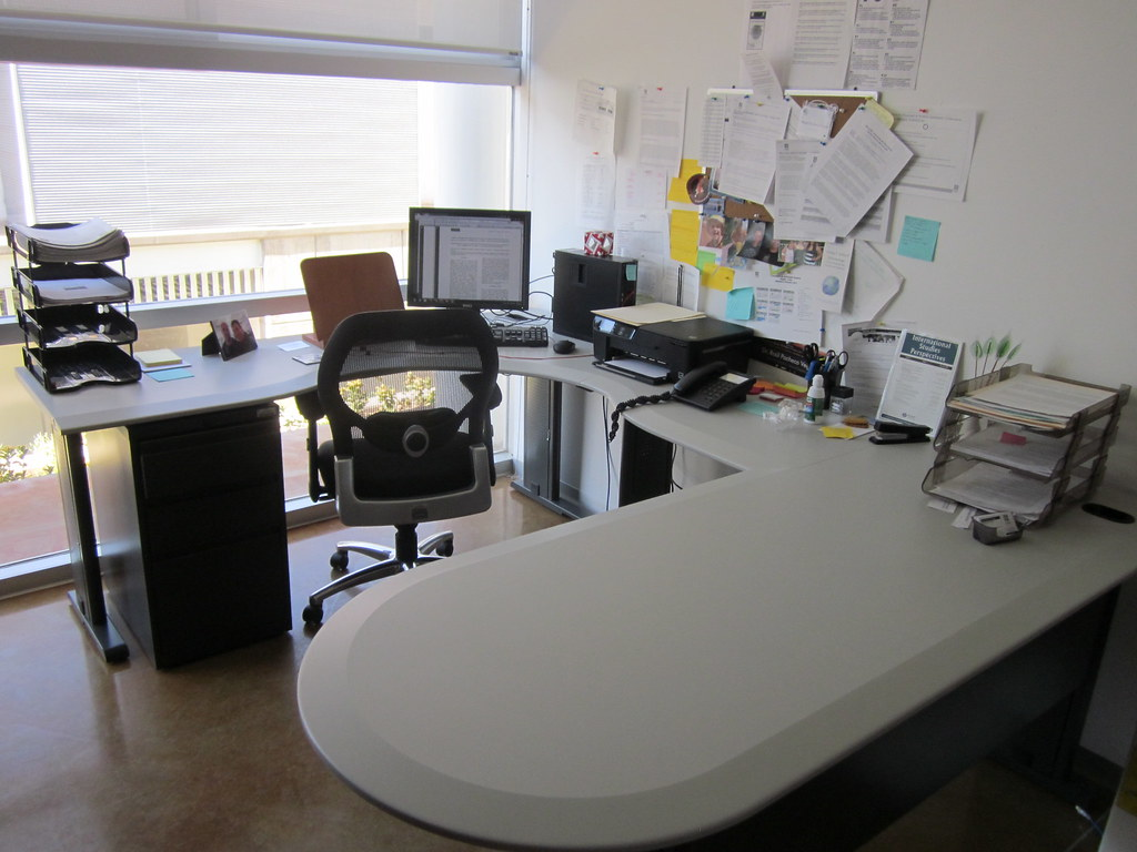 my office desk. my office desk (clean and spotless after clearing up to-do list)