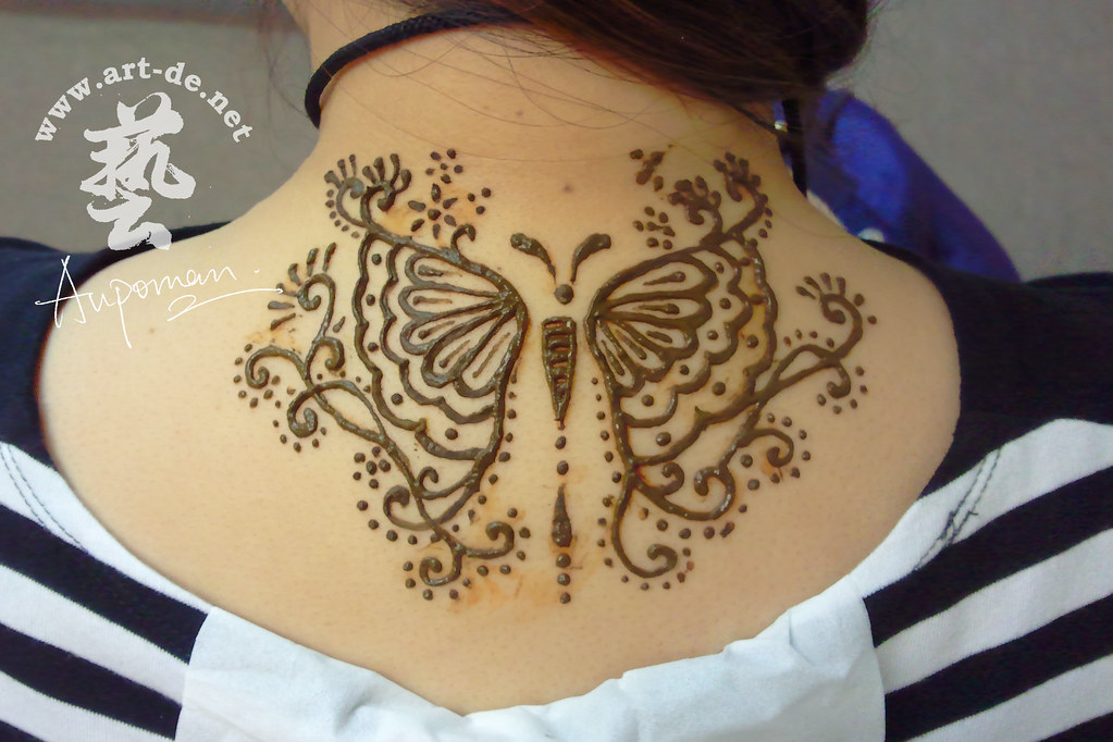 Aupoman Hk Henna Tattoo Neck Henna Tattoo By Aupoman In Hk Flickr