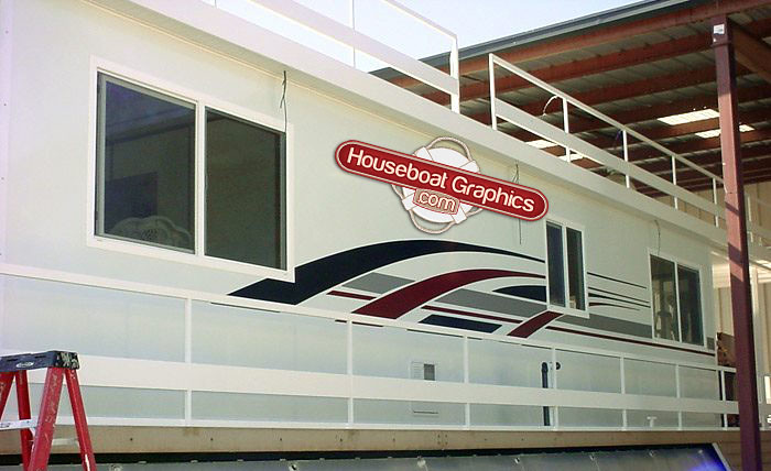 Houseboatgraphicscustomvinylstripesboatdecals Flickr - Custom designed houseboat graphics