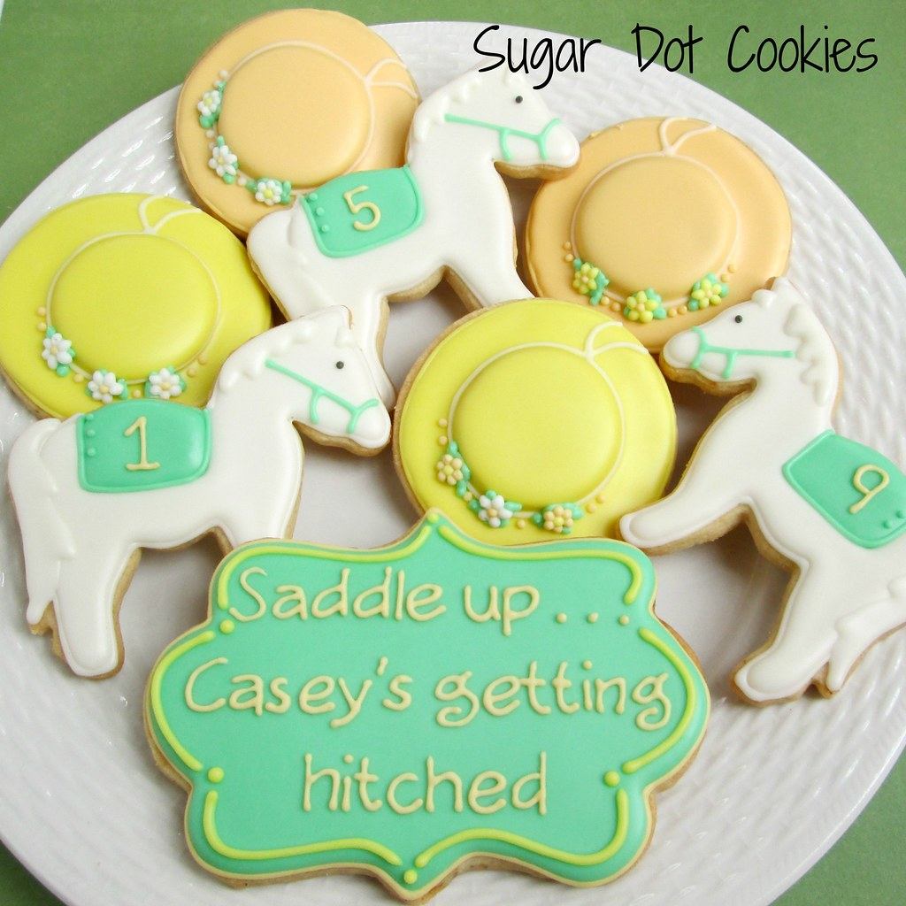 sugar dot kentucky derby bridal shower sugar cookies with royal icing by sugar dot