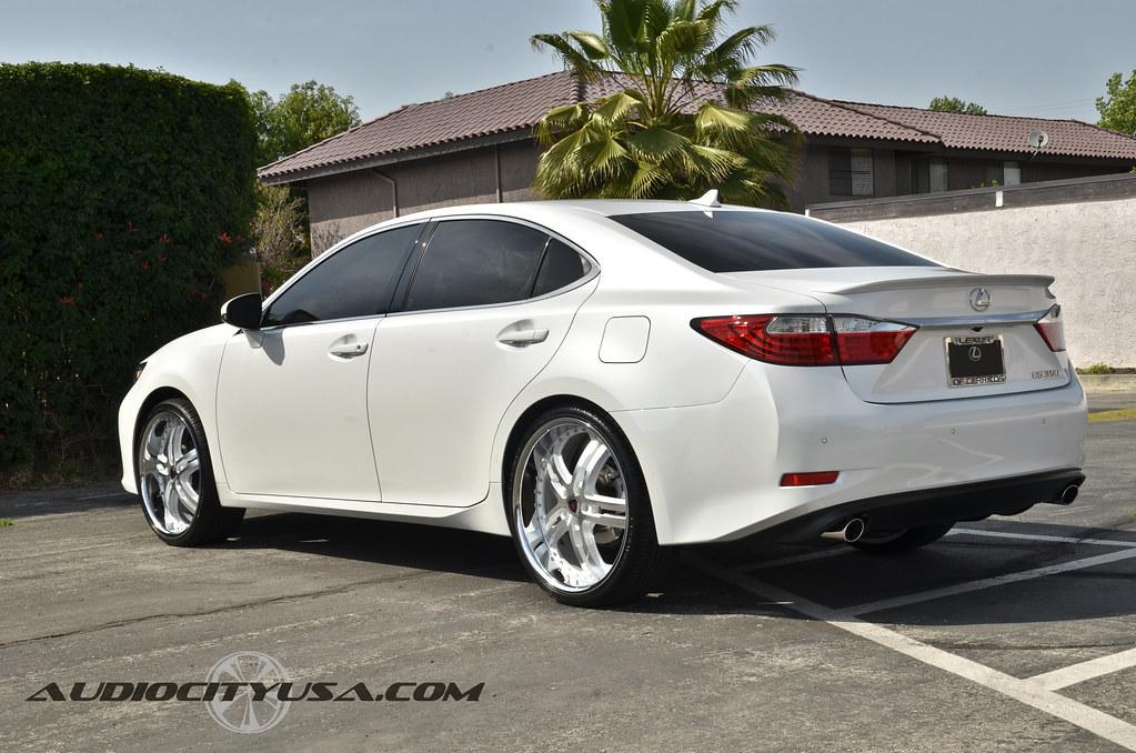 22 Quot Merceli M6 White Windows On 2013 Lexus Es 350 Car