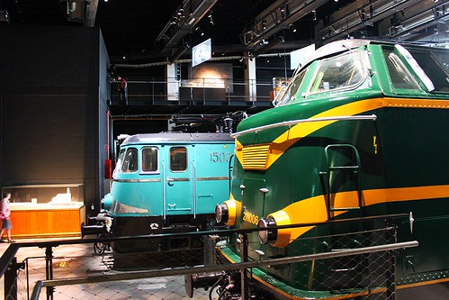 two old trains