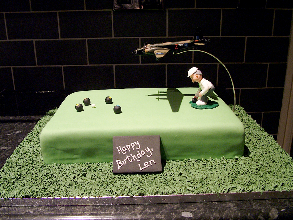 Wellington Bomber Crown Green Bowls Birthday Cake Flickr