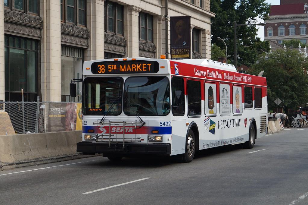 Septa Route 38 Bus Septa New Flyer D40lf 5432 Route 38