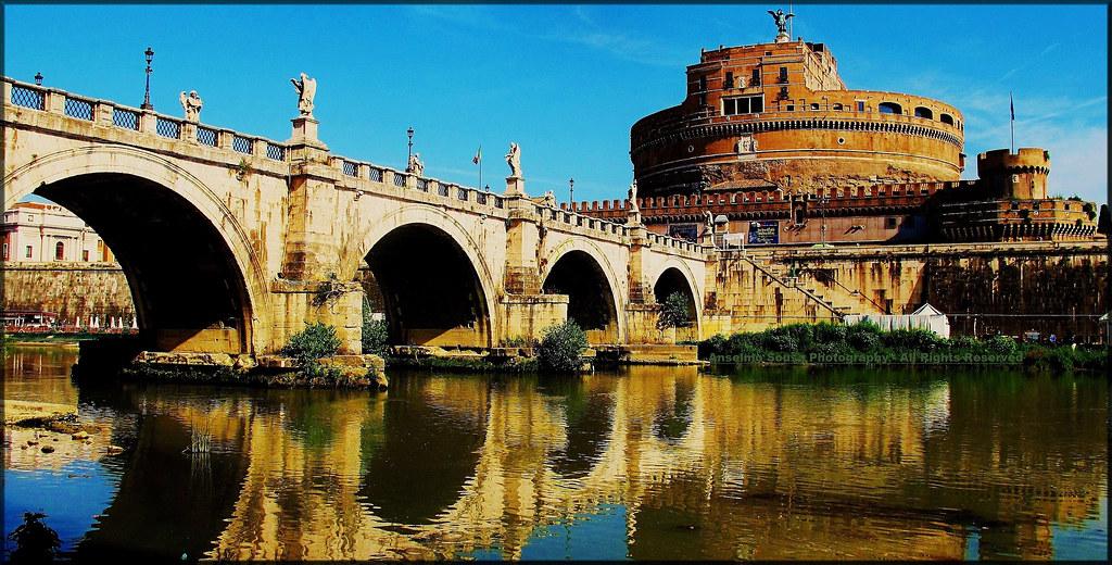 Itália – Roma - Castelo de Sant'Angelo, este imponente edi