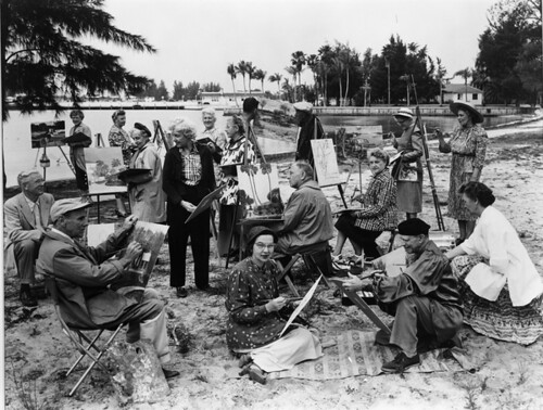 Bayfront painting class: Sarasota, Florida | by State Library and Archives of Florida