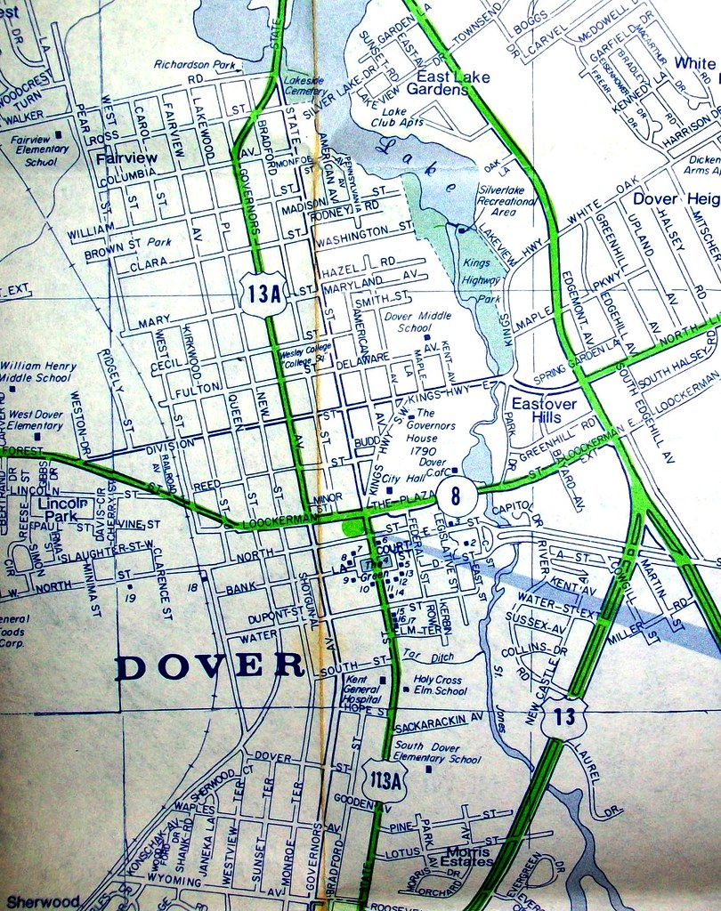 Dover DE 1970 | Map by Arrow Map Co. Dover is one of very fe… | Flickr
