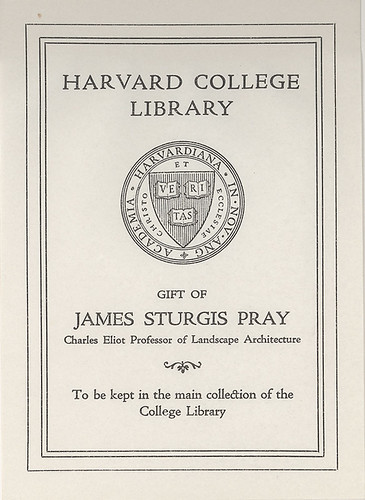 Gift of james sturgis pray charles eliot professor of lan for Gifts for landscape architects