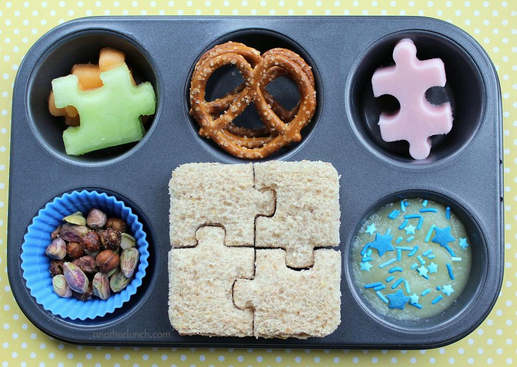 Muffin Tin Monday - puzzle time! April is Autism Awareness ...