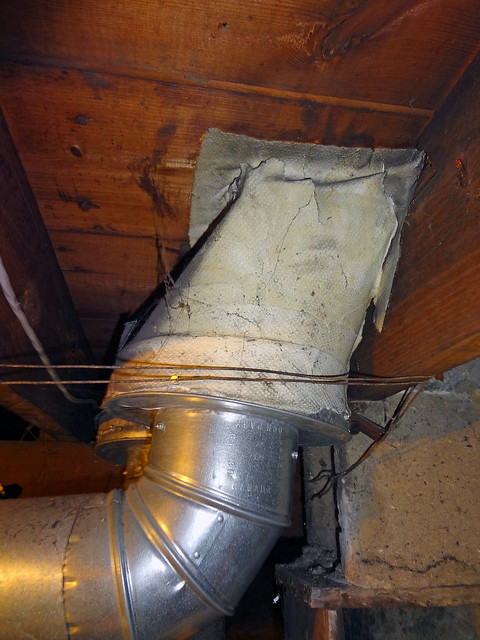 Residential Air Duct With Asbestos Paper Insulation