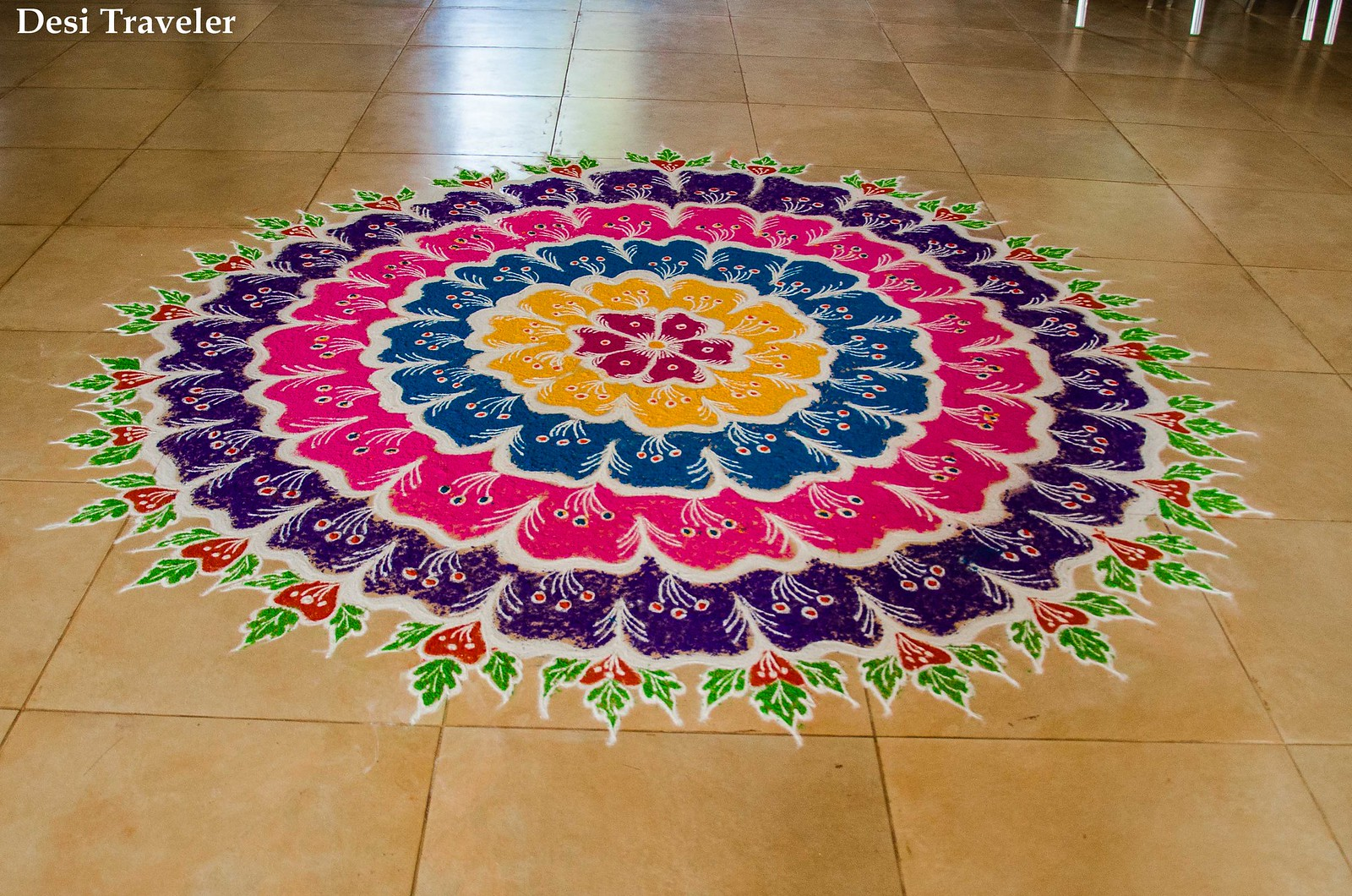 A 6 layer rangoli design masterpiece