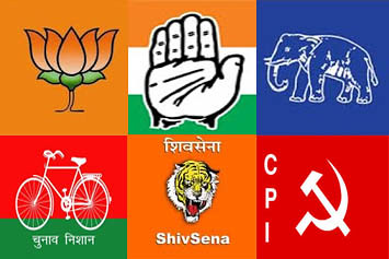 Indian Political Parties Signs