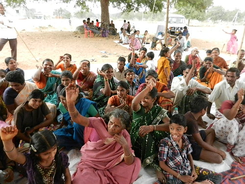 Carers showing their support for a new carers programme in Andhra Pradesh, India | by Carers Worldwide