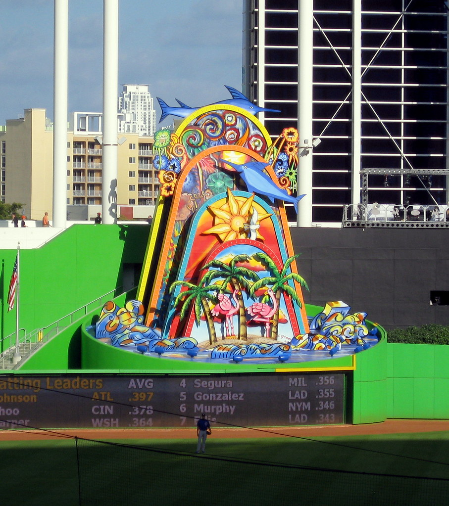 Image result for marlins home run sculpture