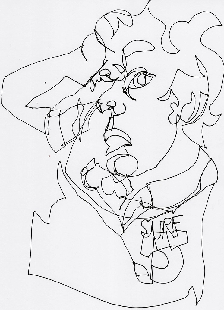 Contour Line Drawing Jobs : Blind contour line drawing julia forsyth draw