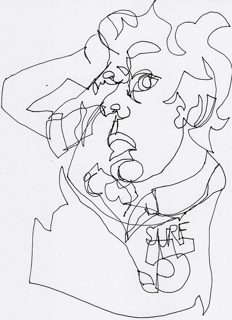 Contour Line Drawing Photo : Blind contour line drawing draw flickr