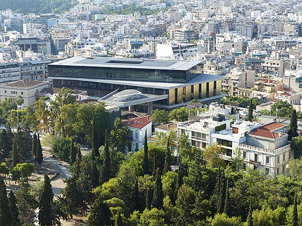 vue sur le musée de l'acropole