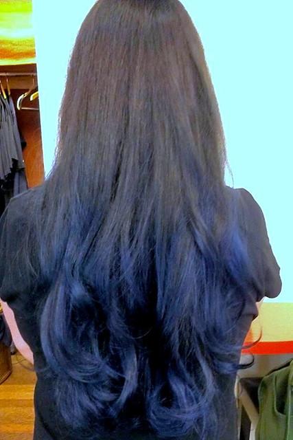 dark blue ombre hair flickr photo sharing