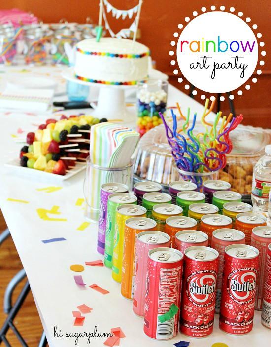 Hi sugarplum rainbow art party hi sugarplum flickr Hi sugarplum