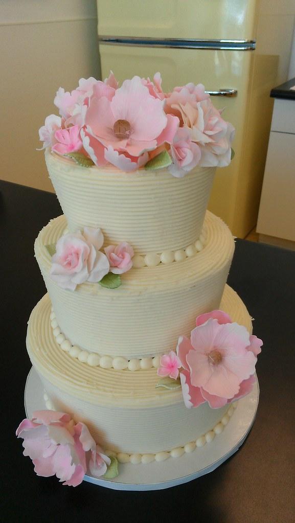 Three Tier Rustic Wedding Cake