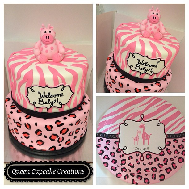 pink safari baby shower cake queencupcakecreations pink safari