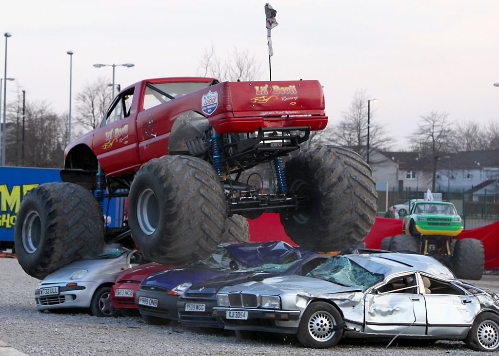 Monster Truck Crushing Cars Monster Truck At The Extreme S Flickr