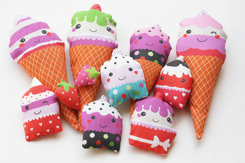 Soft fabric play food - ice creams | by Katarina Roccella