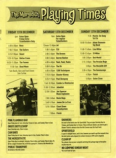 MMF2002 Playing Times | by Aunty Meredith