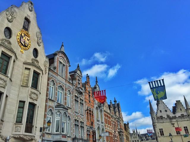 Fachadas de Malinas (Mechelen) en Flandes (Bélgica)