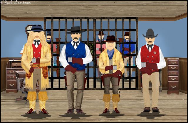 Jimmy, Wyatt & Chris met with Deputy Skjeggestad ©Jack Boardman