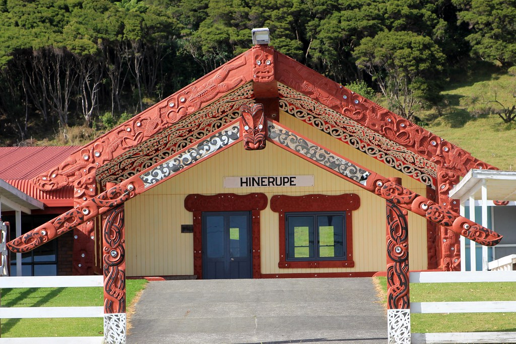 East Cape Visiting A Marae Tribal Meeting House The