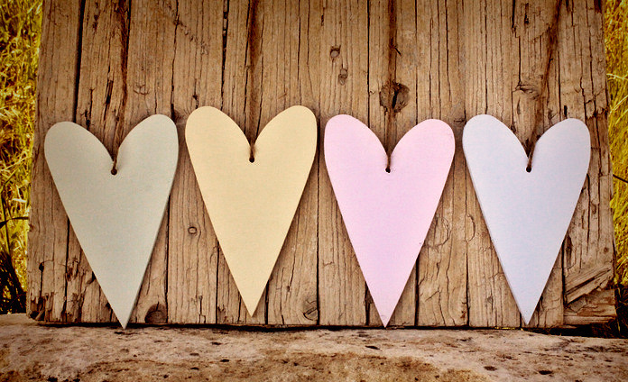 Wooden Pastel Hearts Wedding Decor For Visiting Our Shop P Flickr