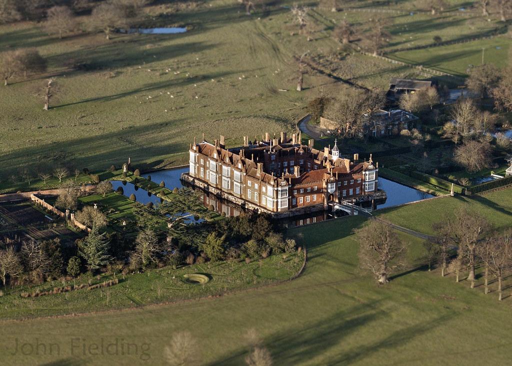 helmingham hall aerial image