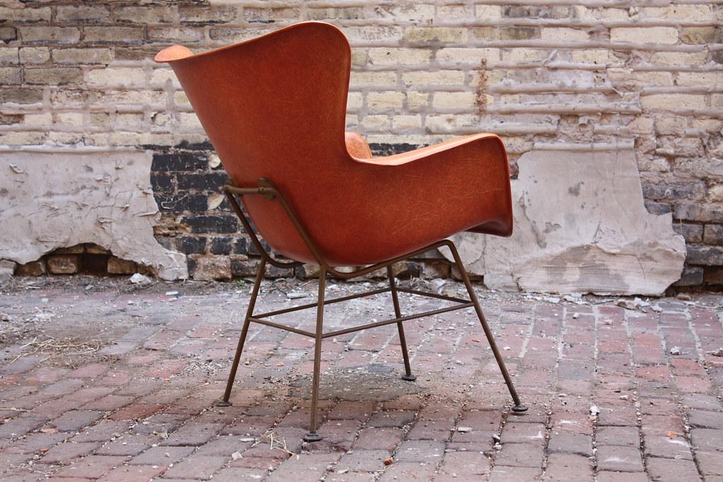 ... 1950u0027s Sweet Lawrence Peabody Mid Century Modern Fiberglass Wingback  Arm Chair For Selig (U.S.A, 1950u0027s