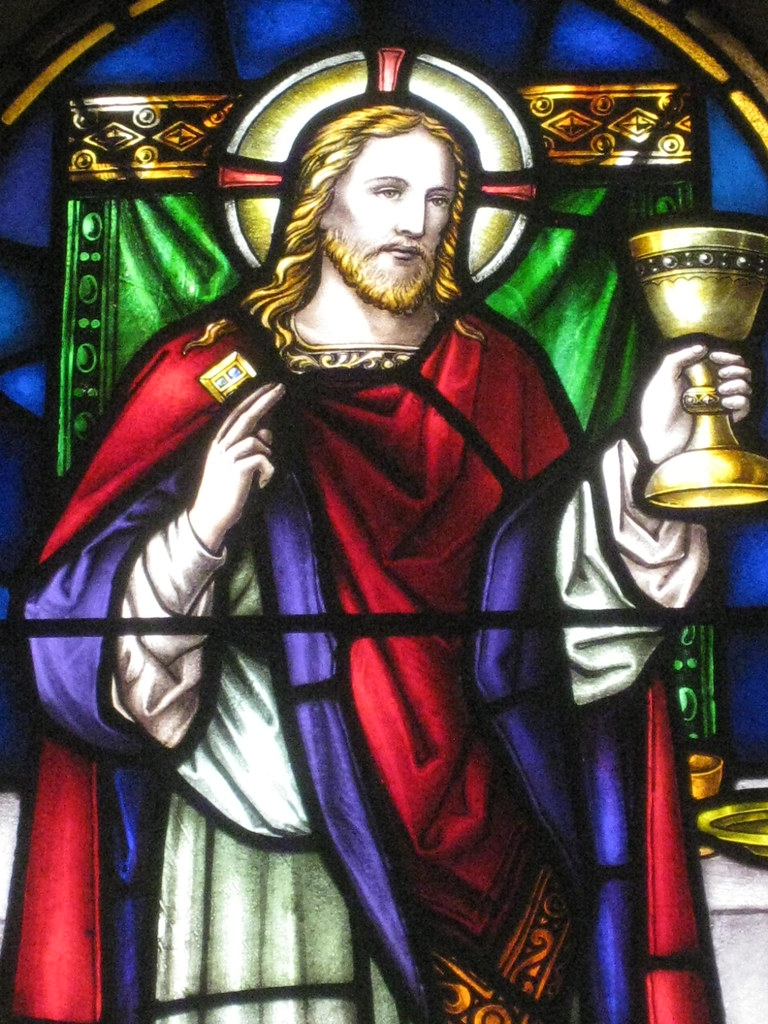 Detail Of Jesus In The Stained Glass Miss Magee Memorial Window St Johns Anglican Church