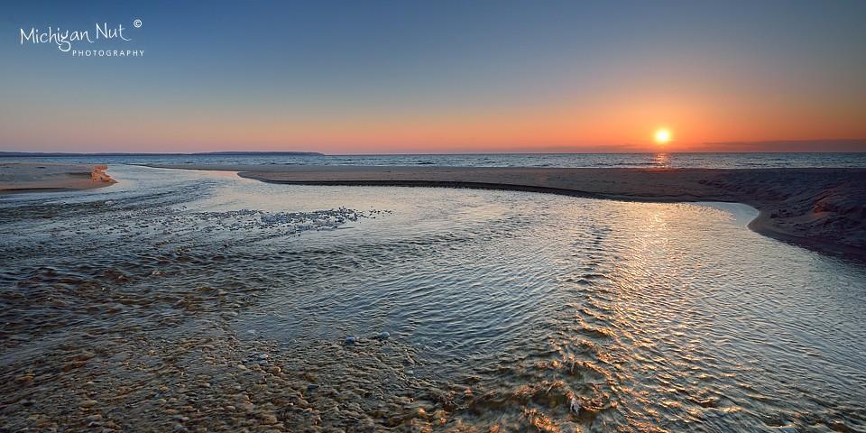 Otter Creek Sunset Sleeping Bear Dunes National Lakeshore