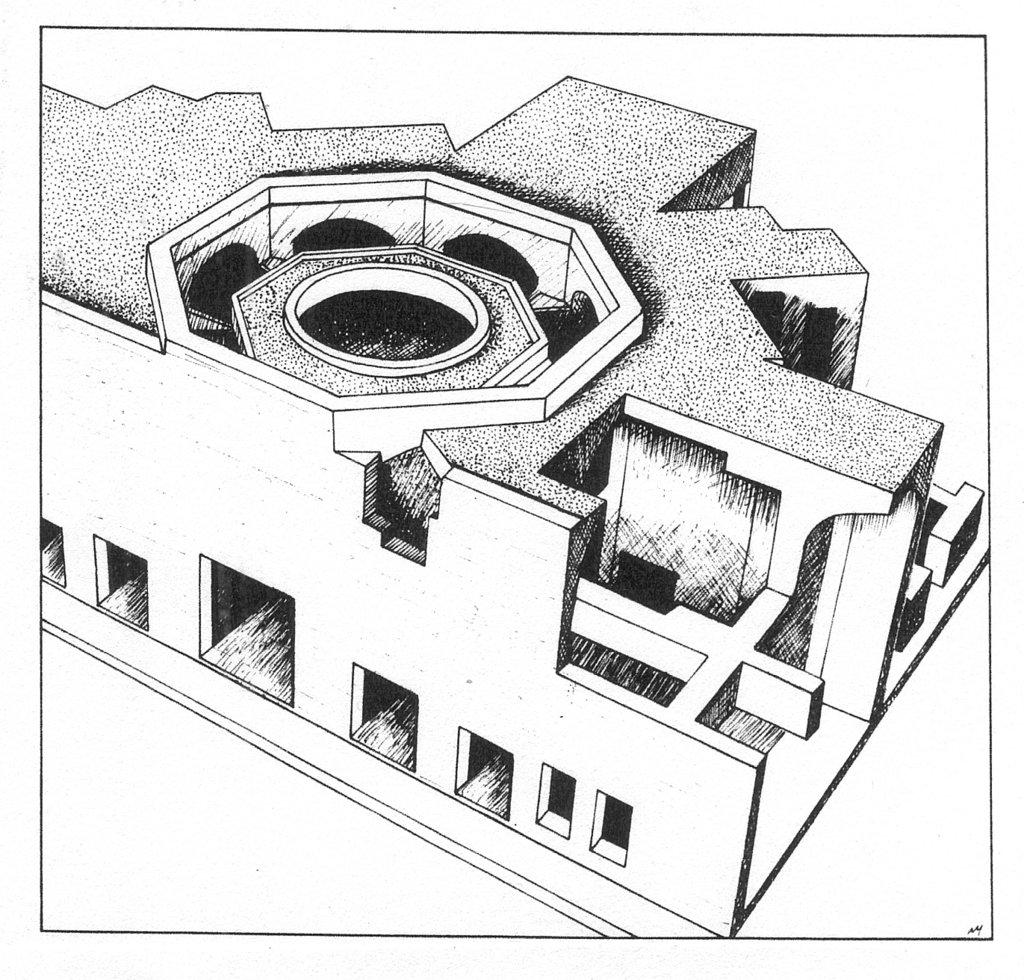 Domus aurea octagonal room the image for Domus address