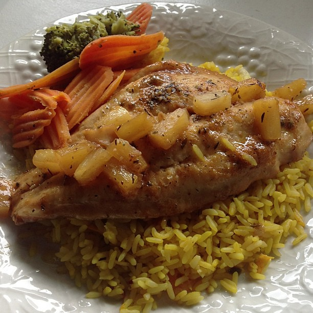 Baked fish seafood rice and mixed veggies 786 859 6875 for Baked fish and rice