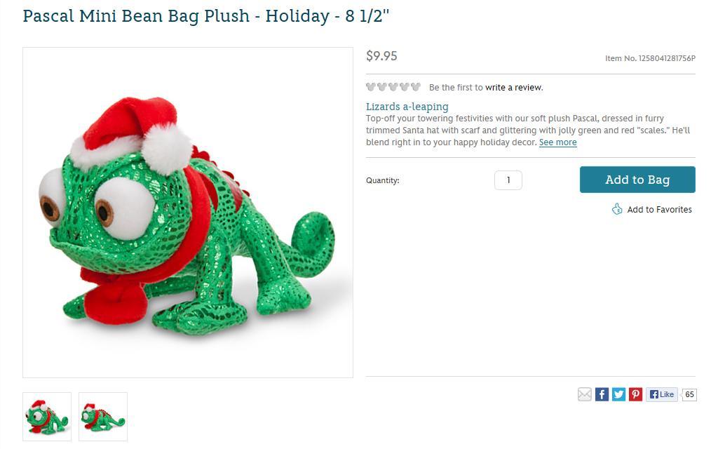 Pascal Mini Bean Bag Plush - Holiday - 8 5'' - US Disney S… | Flickr