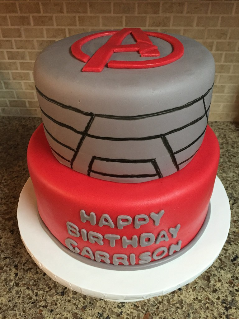 Avengers Birthday Cake Avengers Birthday Cake Red And Gre Flickr