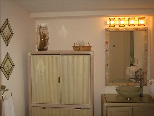Master bedroom dressing area tiled dressing area with for Dressing area in bedroom