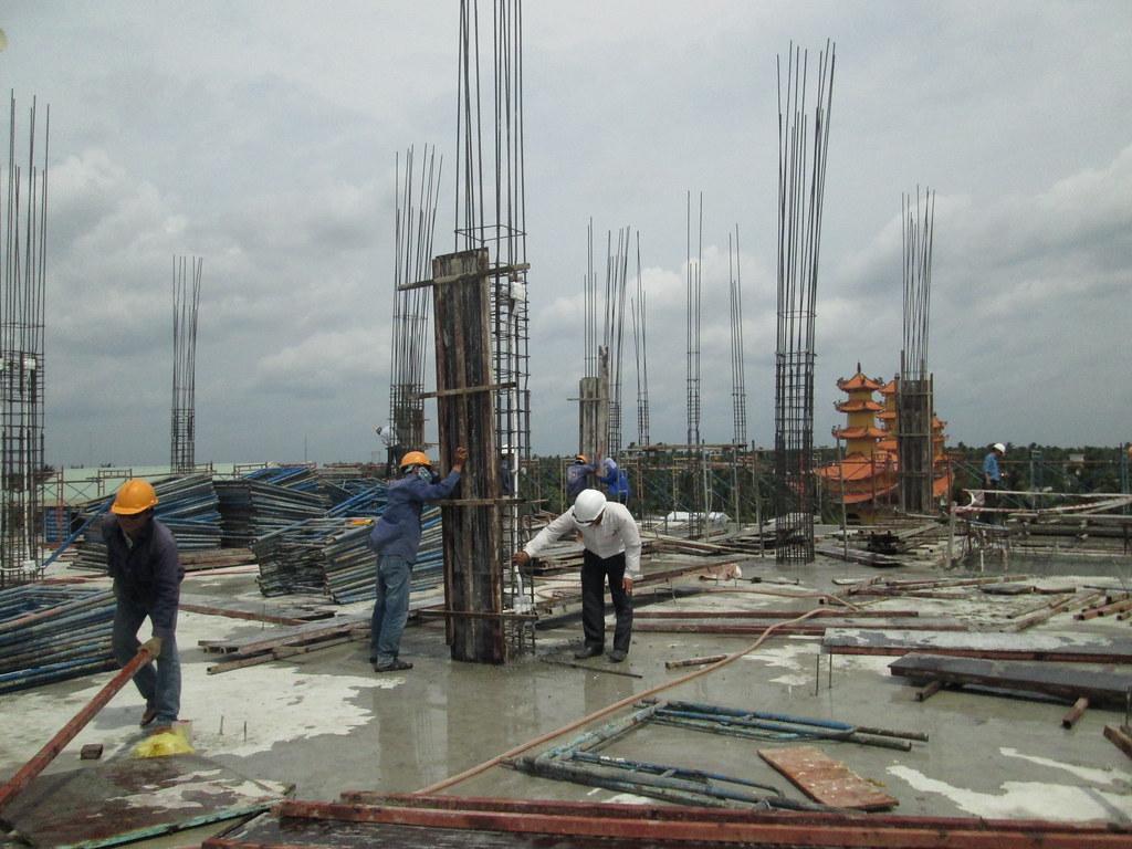 Lap Dung Van Khuon San Ảnh Lắp Dựng Ván Khuôn Cột
