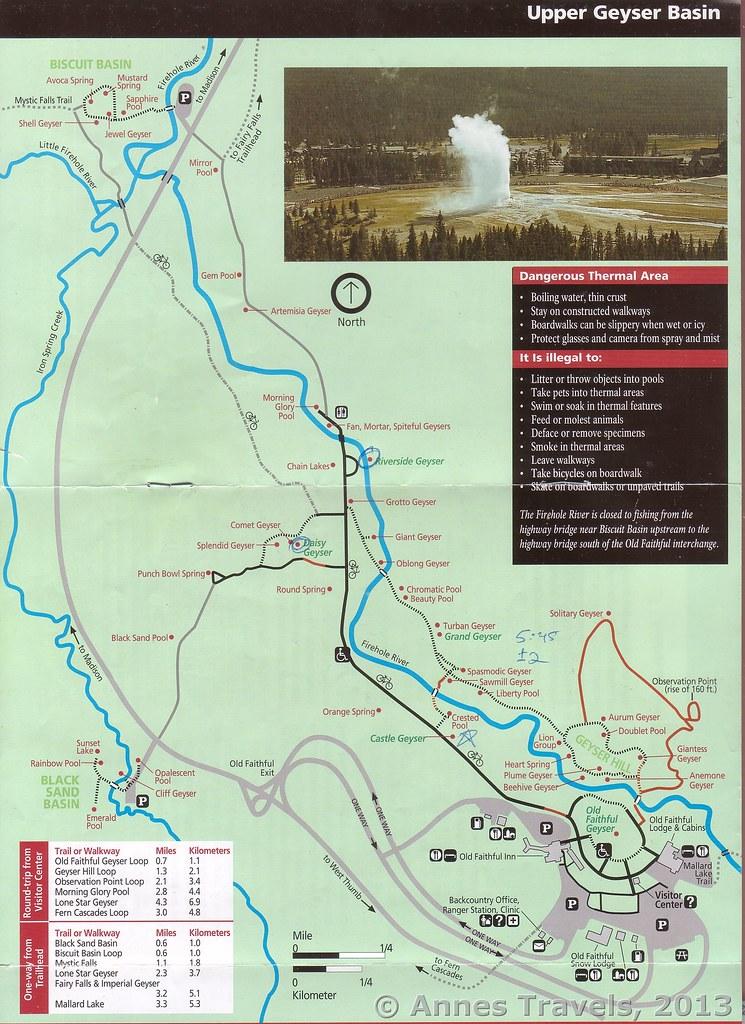 Upper Geyser Basin Trail Map 2009 | A map of the Upper Geyse… | Flickr