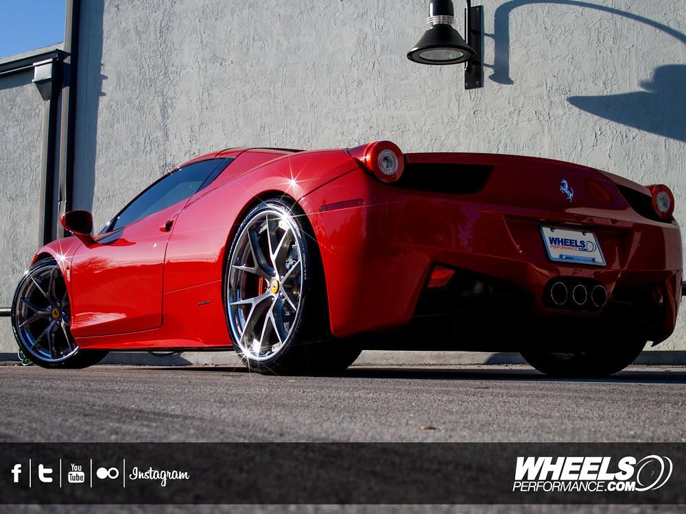 Ferrari 458 Black Rims Hre Wheels Ferrari 458 Italia Liberty Walk