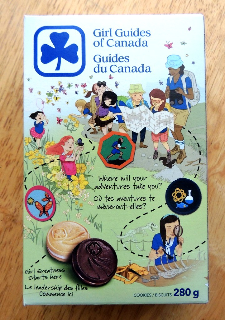 2013 girl guides of canada cookie box girl guides