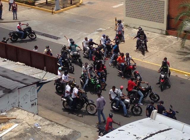 Habitantes de Alta Vista, en Puerto Ordaz, reportan represión por parte de funcionarios de la GNB y colectivos