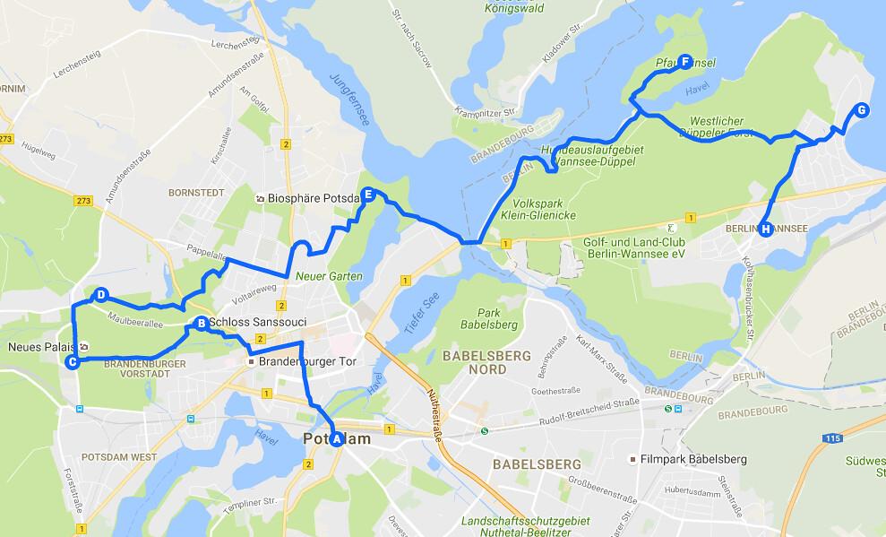 Visiter Potsdam et Wansee, lacs et forêts à l'ouest de Berlin.