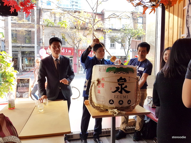 sake barrel ceremony at Ebisu