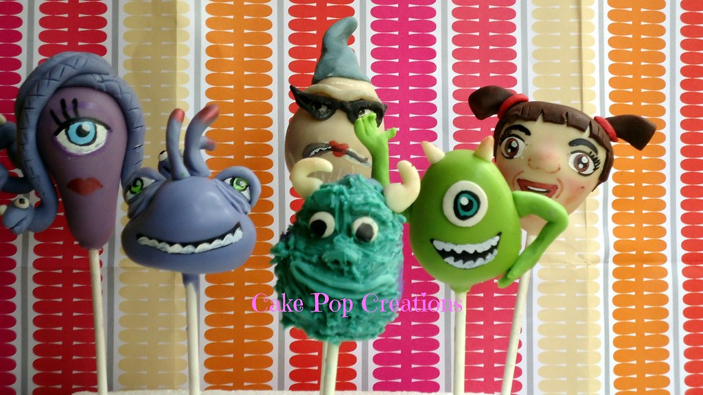 Monsters Inc Cake Pops Cake Pop Creations Flickr